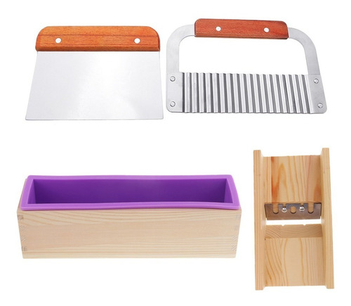 4 pcs / set cortador de molde de jabón de silicón para