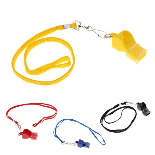 4 pcs soccer basketball  referee whistle, emergency survival