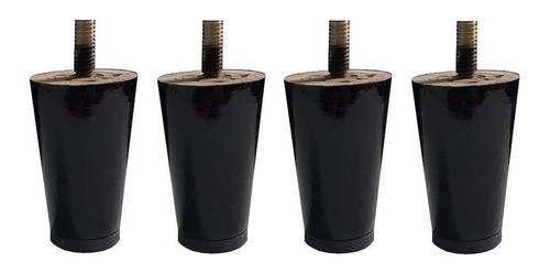 4 pé mini palito fixo 6cm preto tabaco proteção plástico