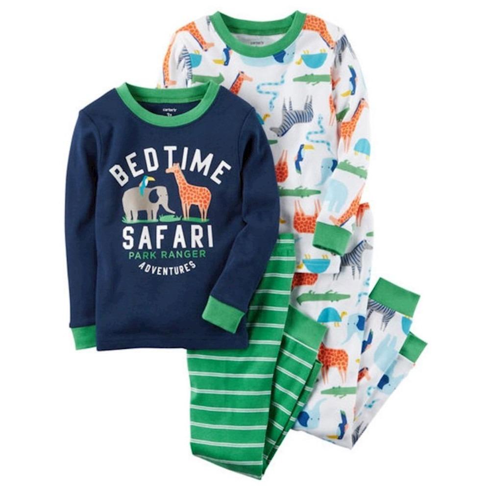 7f2737253 Carregando zoom... 4 peças - conjunto pijama - bedtime safari - carters