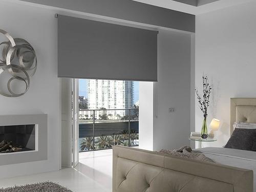 4 persianas enrollables color gris