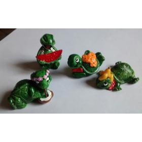 4 Personagens Da Coleção Tartalegres Miniaturas Kinder Ovo