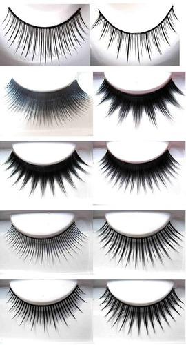 4 pestañas postizas tupidas + 1 pegamento maquillaje ydnis