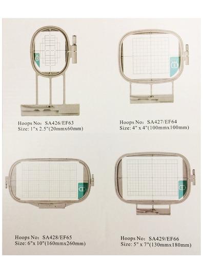 4 piezas bastidor bordado máquinas brother bordar últ-2001