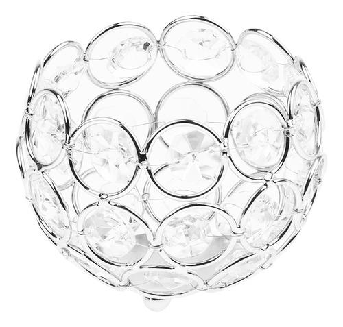 4 piezas cristal de plata cristal candelabros banquete