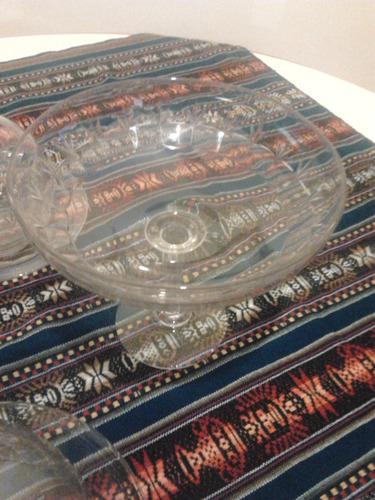 4 piezas de cristal antiguo