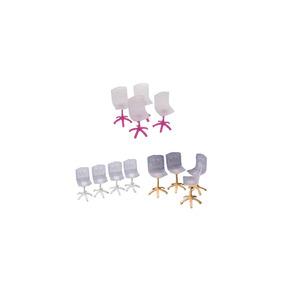 Muebles Para Minitura En Piezas 4 Barbi De Juguete Sillas WDI2HE9