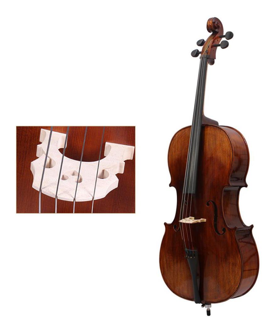 4 Piezas Maple 3 4 Cello Bridge Instrumento Musical