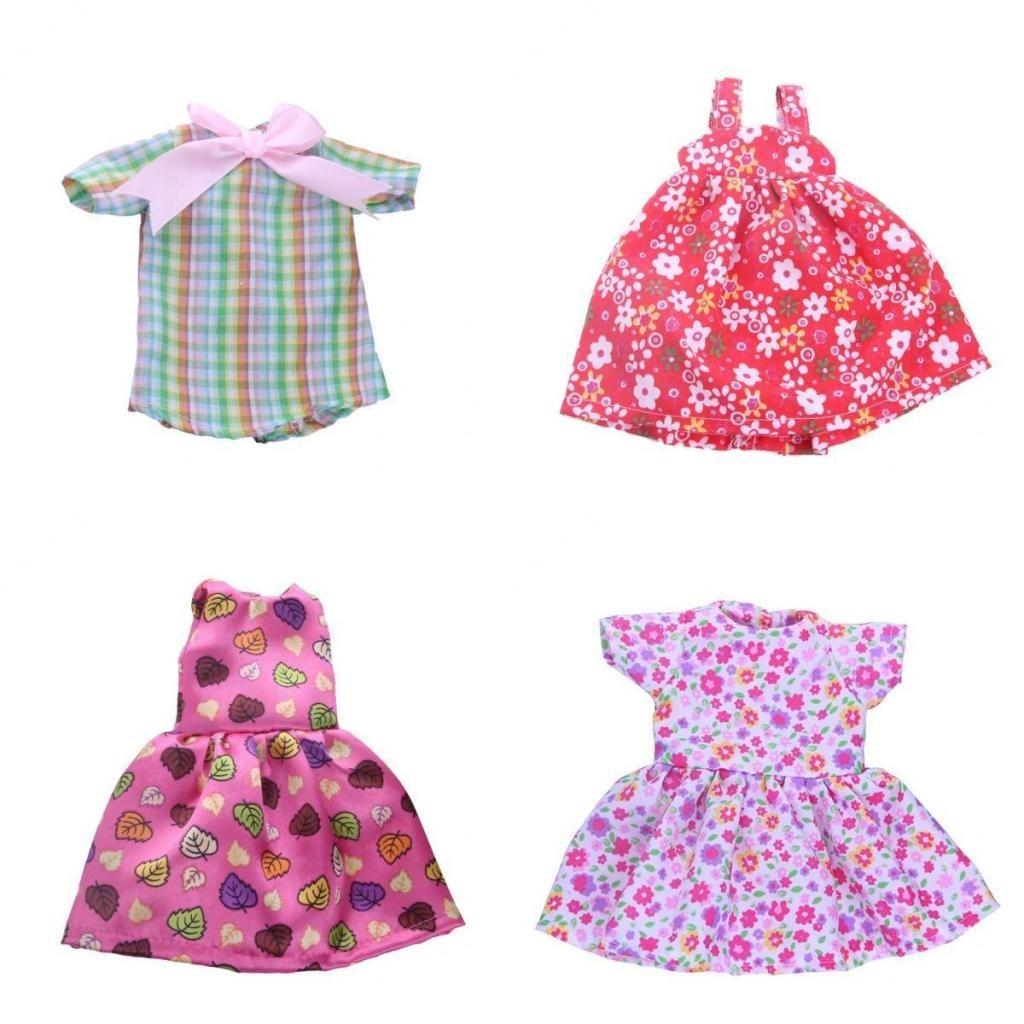4 Piezas Vestido Ropa De Moda Para 14 Pulgadas Americana Muc ...