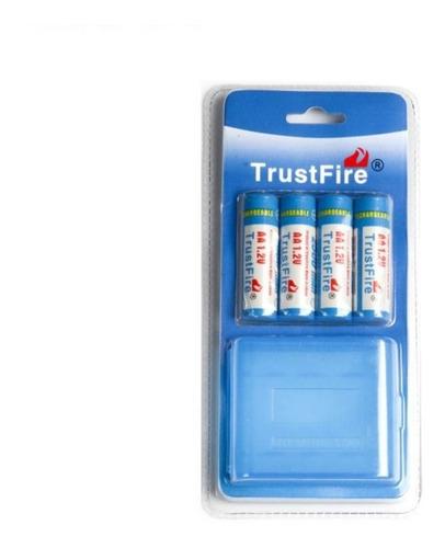 4 pilas baterias recargable aa 1.2v 2500mah marca trustfire®