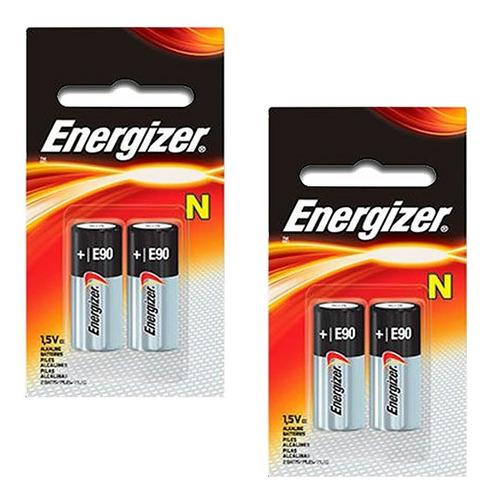 4 pilas n e90 lr1 energizer alcalina 1.5v 2 blts x 2 pilas