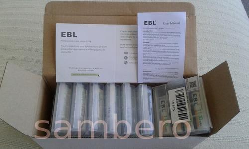 4 pilas recargables triple aaa ebl baterías 1100mah reales