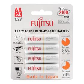 4 Pilhas Aa Recarregáveis 2100x Fujitsu Eneloop Standard