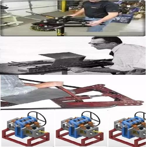 4 planos dobladora curvadora de tubos platinas chapas