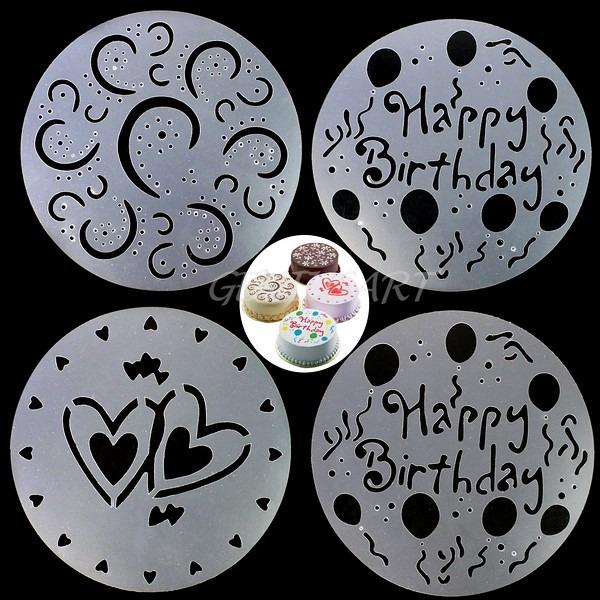4 plantillas para decorar queques tortas y postres - Plantillas de decoracion ...