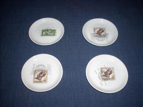 4 posavasos de porcelana   bidasoa