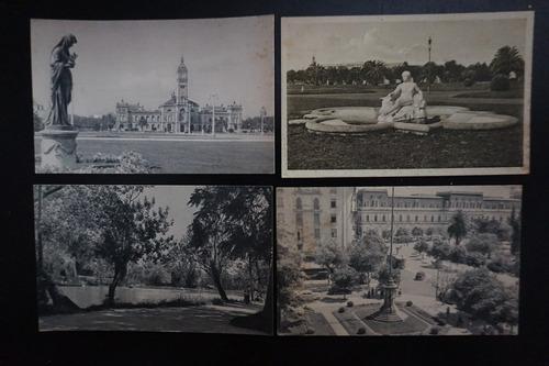 4 postales antiguas de la ciudad de la plata - nuevas