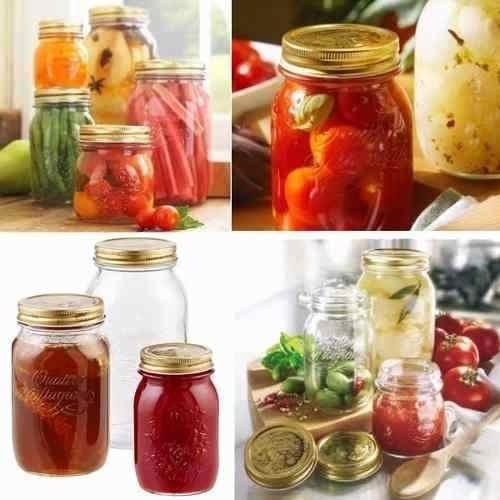 4 pote salada hermético quattro stagioni mason jar vidro 1 l