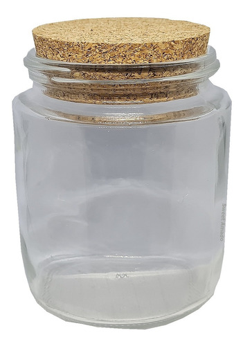 4 pote vidro tampa rolha cortiça 200ml +4 etiqueta +1 caneta