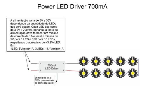 4 power leds 3watt uv (ultravioleta) 385nm ~ 405nm + driver