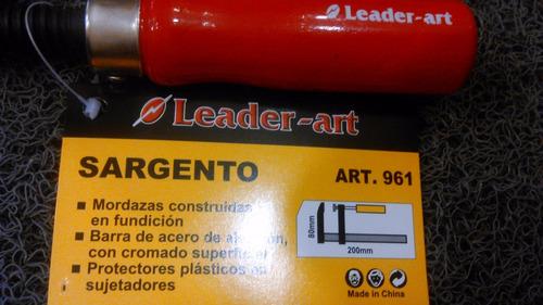 4 prensa sargento leader art 8 x 40 cm artesanias luthier