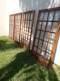 Puertas Corredizas Metal Con Vidrio Interiores Madera Aberturas