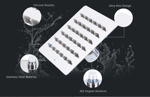 4 pulgadas de baño cuadrado ducha cabezal-plata