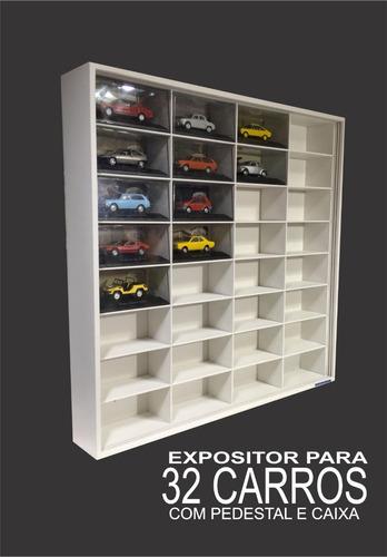4 quatro expositores carros 1:32 stock car lendas 32 nichos