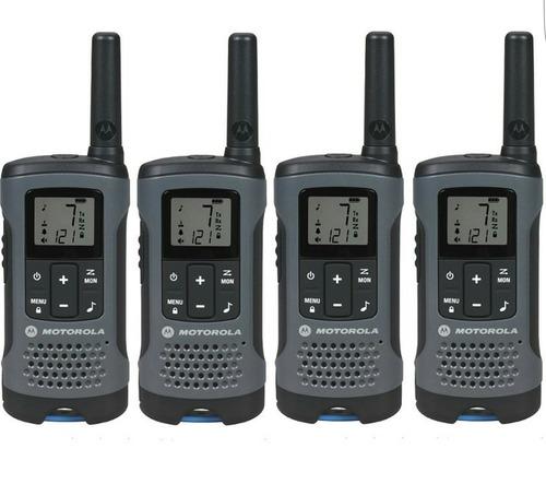 4 rádio motorola talkabout walk talk t200mc 32km
