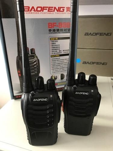 4 radios baofeng bf-888s walkie-talkie uhf 400-470 mhz
