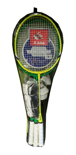 4 raquetas de bádminton set parales malla 3 gallos importado