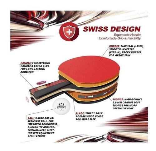 4 raquetas de ping pong paleta de tenis de mesa c/8 pelotas