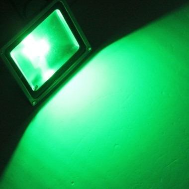 4 reflector led verde 10w 220v p/ decorar plantas y jardines