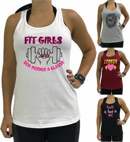 b12d56e70a50a5 4 Regata Nadador Feminina Fitness Blusa Blusinhatop Cavada