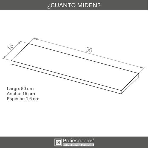 4 repisas flotantes modernas minimalistas melamina 50x15 cm