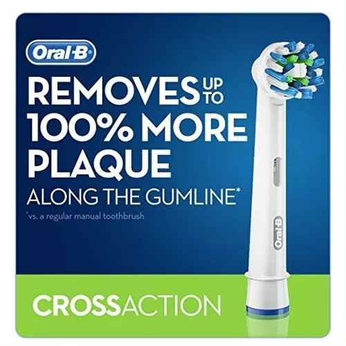 4 repuestos cabezal cross action cepillo electrico oral-b