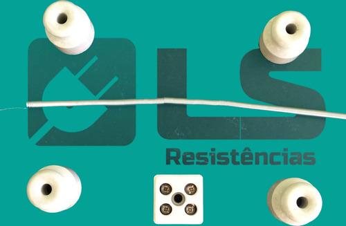 4 resistência chocadeira 220v/130w+12 isoladores+3conector