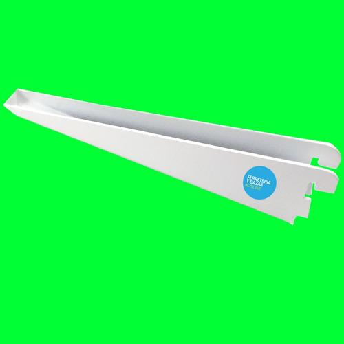 4 riel de 2 m blanco con 24 mensula 17 cm. reforzadas