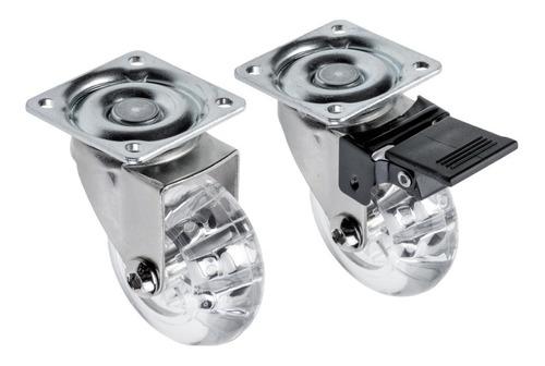 4 rodinha silicone freio trava anti risco gel 50mm 160kg