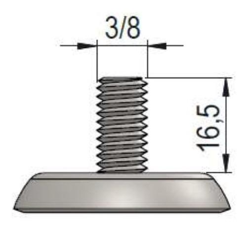 4 rodizio giratório gel cristal 2 polegad  c/espiga c/ trava