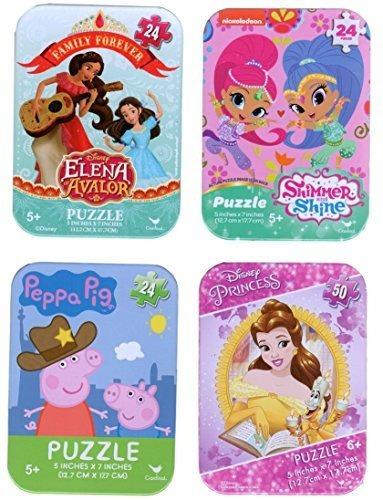4 rompecabezas coleccionables latas para niñas de 5 años o m