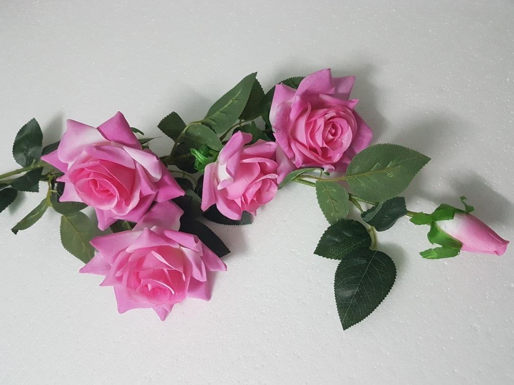 4 rosas grandes rojas o rosadas artificial decoracin cargando zoom - Fotos De Rosas Rojas Grandes