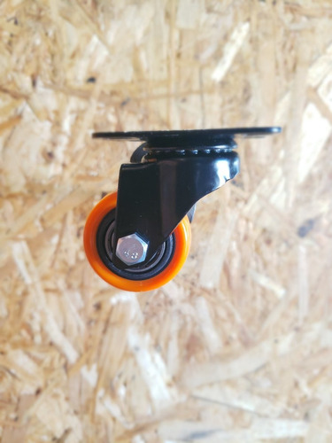 4 ruedas giratorias poliuretano diametro 40 mm