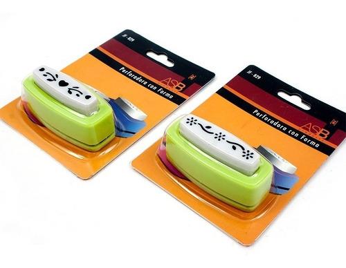4 sacabocados con forma perforadora para tarjetas y bordes