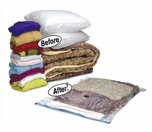 4 sacos de roupas a vácuo que comprime diminuindo tamanho