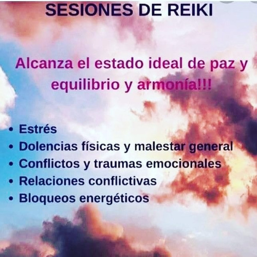 4 sesiones  de reiki a distancia máster reiki usui