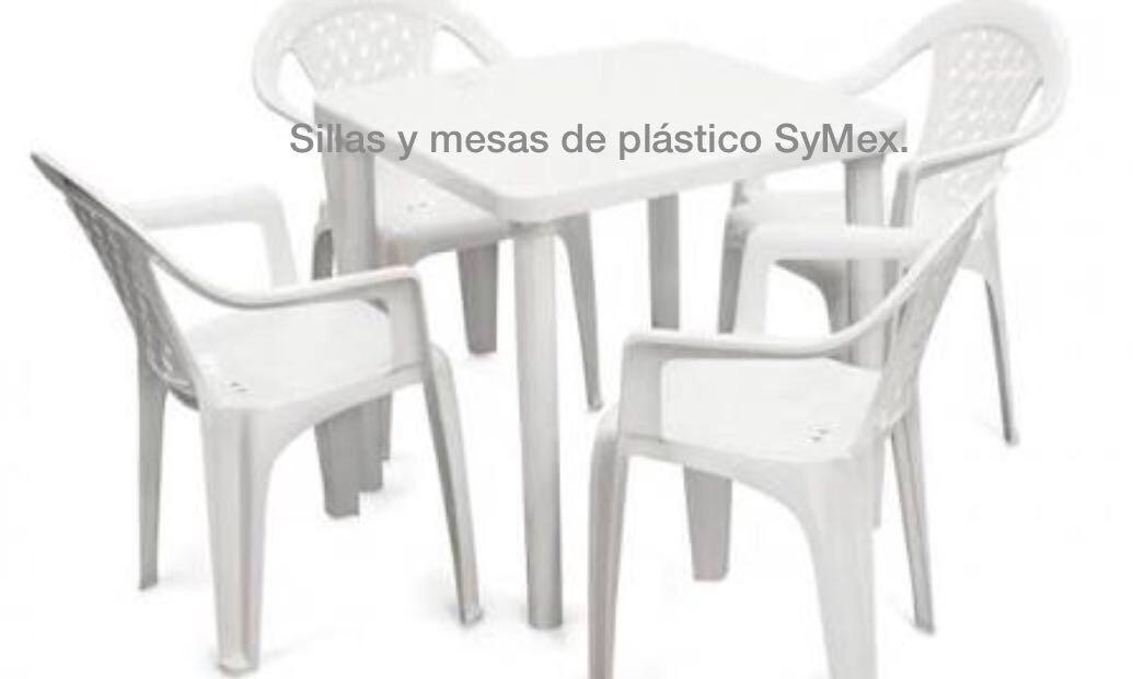 4 silla apilable de pl stico 1 mesa cuadrada env o - Sillas de plastico ikea ...