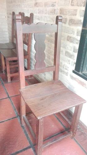 4 sillas de algarrobo macizo