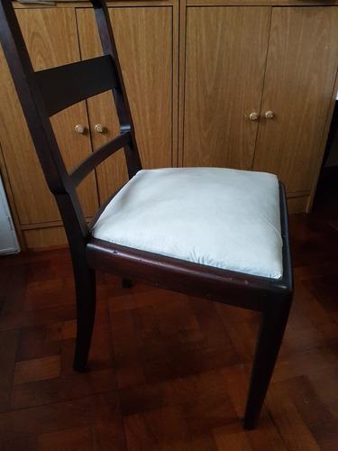 4 sillas de cedro