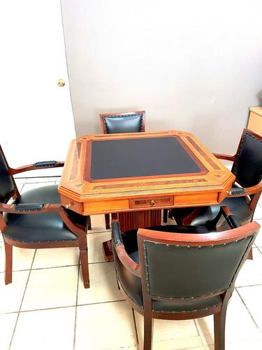 4 sillas de madera para mesa de juego comedor oficina for Sillas de oficina de madera